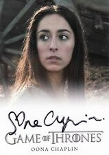 Oona Chaplin ++ Autogramm ++ Game of Thrones ++ James Bond ++ The Hour