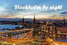 SOUVENIR FRIDGE MAGNET of STOCKHOLM BY NIGHT