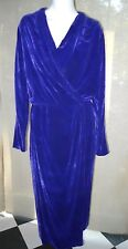 Lanvin Les 10 ans velvet dress coat jacket robe dark blue purple 38 France