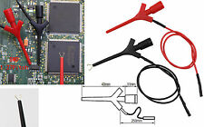 2PCS Mini Grabber Test Hook Test Clip liers Test Probes SMD IC Jumper with Cable