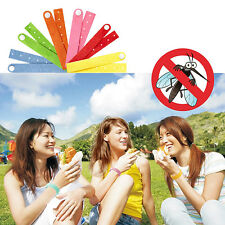 10pcs Anti Mosquito Bug Repellent Wrist Band Belt Bracelet Insect Bug Camping