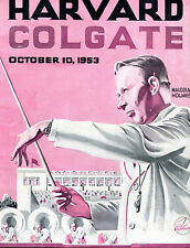 Harvard vs. Colgate Football Program October 10 1953 Malcolm Holmes jhc