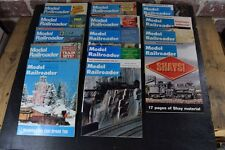 Lot of 14 Vintage Model Railroader Magazine from the 70's and 80's Trains