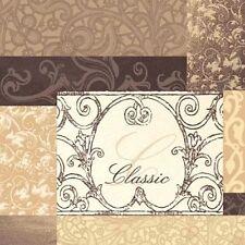 20 Paper Lunch Napkins CLASSIC COLLAGE Serviettes Vintage DECOUPAGE Brown / D