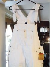 White EUNINA Jeans, NEW Size 2XL, 100% Cotton Denim Bib Overalls, 42 X 32 w/Tags