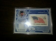 2005 leaf century collection Gaylord Perry Jersey and vintage stamp #ed 073/100