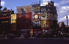 35mm Slide 1964 London Street Scene Piccadilly Circus Guinness Coca Cola BP