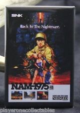 "Nam-1975 Video Game Box 2"" X 3"" Fridge / Locker Magnet. Neo Geo SNK"