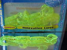 "SPIKE-IT 4"" Saltwater HOLOGRAPHIC Series Grubs 12 Pack in HOLO CHARTREUSE"