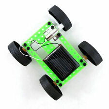 Mini Solar Powered Toy DIY Car Kit Children Educational Gadget Hobby Funny HY