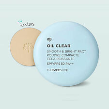 THE FACE SHOP Oil Clear Smooth and Bright PACT Oil Absorbing Smooth Bright