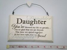 Blessed Daughter Wall Plaque Great Gift Ideas for Daughters & Her For Birthdays
