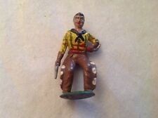 Vintage 1950's Benbros/Britain Lead Figure Of A Cowboy With An Arrow In His Side