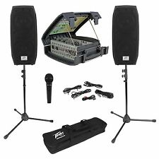 Peavey Messenger Portable Collapsable PA System w/Speakers+Mic/Mixer/Case+Stands