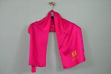 """ESCADA Vintage 90s damas de noche de fiesta color de rosa caliente Diseñador De Seda Bufanda 45""""x10"""" Q88"""