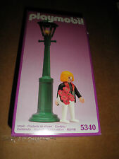 PLAYMOBIL 5340 Working Street lamp light with flowers and figure NIB Sealed