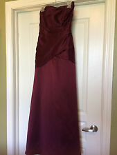 IMPRESSION BRIDAL Deep Cranberry Long Formal Wedding Prom Evening Gown Dress 12