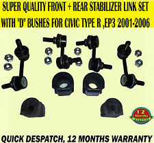 FOR CIVIC 2.0 TYPE R EP3 01-06 FRONT REAR STABILIZER DROP LINK BAR & BUSHES X8