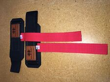 Hypertrophy Haulin Hooks Wrist Support Straps (No Hooks)-Red **STORE RETURN**