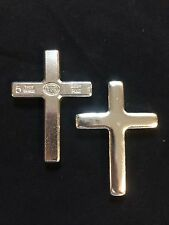 "5oz YPS ""Cross"" 999+ fine silver bullion bar ""Yeager's Poured Silver"""