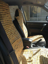 One piece bamboo car seat cover front seats bamboo brick car seat mat cool 竹车垫