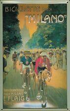 Blechschild Radrennen Milano Fahrrad Mailand Schild Nostalgieschild 20x30 retro