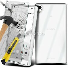 Clear Ultra Slim Gel Case and Glass Screen Protector for Sony Xperia XA