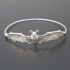 Silver filled metal punk rave new rock gothic bat bangle bracelet