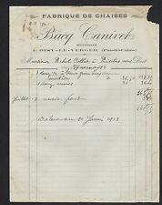 """OISY-le-VERGER (62) USINE de CHAISES """"BACQ CANIVET"""" en 1912"""