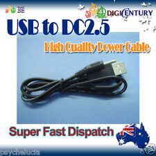 GPS Tablet MP4 USB Male to 5V DC 2.5 x 0.7mm Barrel Connector Power Cable Cord