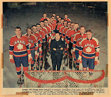 1964 Canadian Olympic Hockey Team Photo From London Free Press Weekend Mag