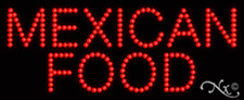 """NEW """"MEXICAN FOOD"""" 27x11 SOLID/ANIMATED LED SIGN W/CUSTOM OPTIONS 20091"""
