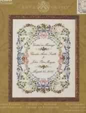 Anna Griffin Filigree Floral Wedding Sampler Silk Ribbon Embroidery Kit Bucilla
