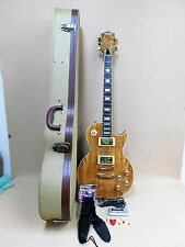 Haze SEG-227 Les Paul Custom Guitar Spalt Maple-Mahogany + HARD TWEED Case Etc.