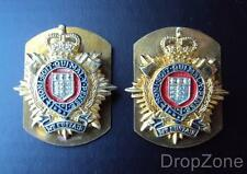 Pair British Military RLC Royal Logistic Corps Officer's Collar Dogs / Badges