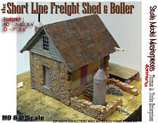 Short Line Freight Shed & Boiler Kit Scale Model Masterpieces/Yorke HOn3 Fine