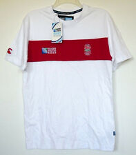 NWT England Rugby World Cup 2015 White & Red Chestband T-Shirt S