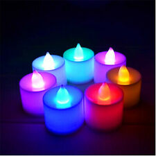 12 pcs Led Flameless Color Changing Flickering Tealight Candles Battery Operated
