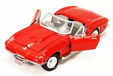 1:24 RED 1967 CHEVY CORVETTE CONVERTIBLE Diecast Model Car MOTORMAX SHOWCASTS