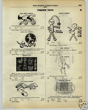 1930 PAPER AD Tinker Toys Toy Billy Goat Belle Gym Drag On Pull Bunny Car Auto