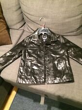 GAP LEATHER  JACKET BOYS Size SMALL  BLACK Color