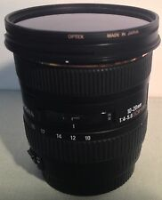SIGMA 10-20mm f/4-5.6 EX DC HSM Lens for Canon SLR Cameras Made in Japan
