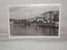 Vecchia cartolina foto d epoca di Spalato scorcio veduta barche palazzi panorama