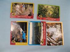 5 Jurassic Park Original Film Paper Trading Cards 1993 Topps Motion Picture (O)