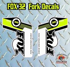 Fox 32 2014 FORK Stickers Decals Graphics Mountain Bike Down Hill MTB GREEN