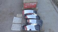 NOS CELLO 1949 Ford FENDER GUARDS Bumper WRAP AROUNDS deluxe front / rear custom
