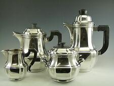 CHRISTOFLE Silver Plate - Gallia ART DECO Pattern - 4 Piece Tea & Coffee Set