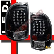 97-04 Dodge Dakota R/T SLT SXT Base Black LED Tail Lights 1 Pair