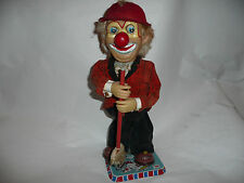 Vintage DOZO The Steaming Clown Tin Toy In Box Works 1960 Rosko Japan