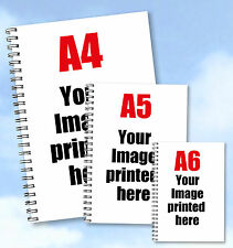 3 x notebooks Personalised A4, A5 and A6 with your own Portrait Photograph buzz